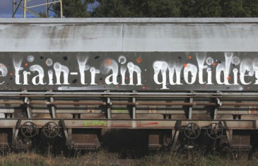 Graffiti puzzle : Le train train quotidien
